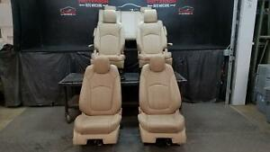 2011 Buick Enclave Front Rear Third Row Power Leather Seats Light Cashmere 39i