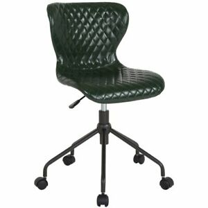 Flash Furniture Somerset Faux Leather Swivel Office Chair In Green