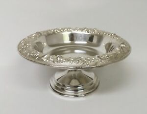 Kirk Repousse Sterling Silver Pedestal Candy Dish