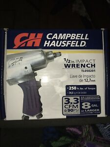 Campbell Hausfield 1 2 Inch Impact Wrench Tl050201 250lbs Torque Brand New