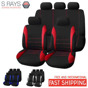 Universal Car Seat Cover 9 Set Full Seat Covers For Crossovers Sedans T21620