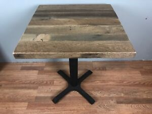 Restaurant Commercial Table Top From Reclaimed Oak Barnwood