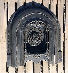 Vintage Cast Iron Fireplace Surround With Summer Cover