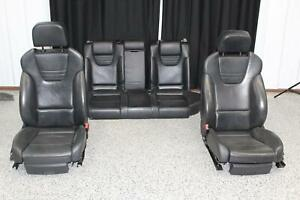 2006 2008 Audi S4 Front Rear Lh Rh Recaro Seat Set Electric Black Leather