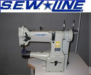 Sewline Sl 228 Cylinder Walking Foot 110v Servo Motor Industrial Sewing Machine