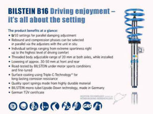Bilstein B16 pss10 Performance Suspension System For Audi A3 Vw Golf All
