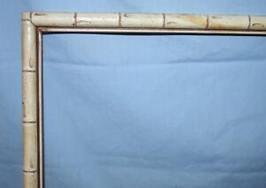 Vintage Bamboo Look Painted Wood Picture Art Frame Painted