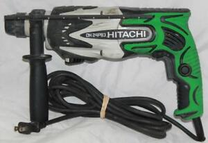 Hitachi 15 16 Rotary Hammer Dh24pb3 With Handle And Depth Gauge Used Condition