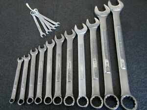 Classic Craftsman Vv Series 11pc Sae Combination Wrench Set Made In Usa