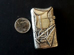 Antique Silver Plate Match Safe Vesta Case