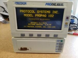 Welch Allyn Propaq 102el Monitor Pictured Working Power Supply Not Included