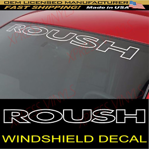 Roush Front Windshield Banner Decal Fit Mustang Vinyl Decal Sticker