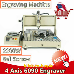 Usb Port 6090 4 Axis Engraving Machine 2 2kw Engraver Milling Metal Drilling Usa