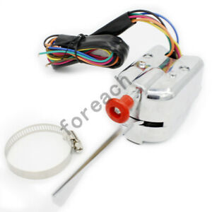 12v Universal Turn Signal Switch For Gm Ford Buick Street Hot Rod Chrome Hl101