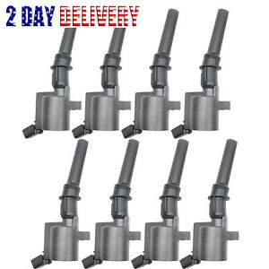 8pcs Ignition Coil Fits Ford F150 F250 F550 Lincoln Mercury V8 Dg508 Fd503