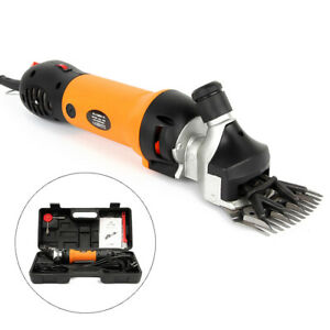 Sheep Clipper Electric Shearing Machine Clipping Shears Groom Us Plug Carry Case