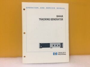 Hp Agilent 08444 90035 8444a Tracking Generator Operation Service Manual