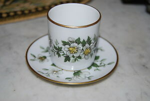 Beautiful Fm Limoges France Hand Painted Flowers Demitasse Cup And Saucer 1