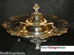 Gorham Silver Chantilly Exlg Footed Covered Tureen Bowl See Our Other Listings
