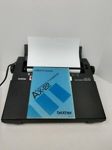 Brother Ax 22 Electronic Typewriter With Cover Manual Word Processor Portable
