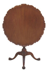 F46959ec Baker Historic Charleston Collection Tilt Top Mahogany Table