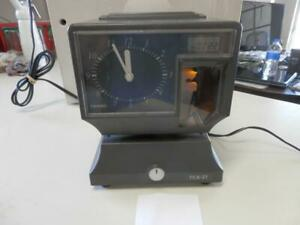 Amano Tcx 21 Time Clock Punch With Keys Job Work Office