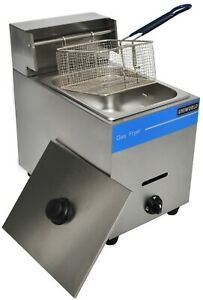 Ugf 71 Propane Lp Gas Fryer 1 Well 1 Basket Manual Control 10 Liter Capacity