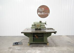 Mattison 202 Straight Line Rip Saw W laser
