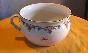 Antique 20s Chamber Pot Porcelain With Floral Rose Design 1335 A