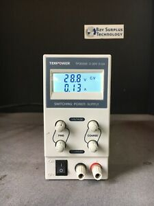 Used Tekpower Tp3005e Dc Adjustable Switching Power Supply 30v 5a