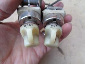 1930 s 1940 s Heater Defrost Switches Original Vintage Accessory Ford Chevy