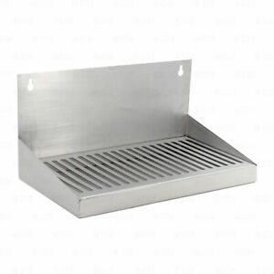 12 Stainless Steel Hanging Drip Tray For Kegerator Or Keezer Removable Grate