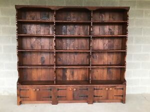 Hunt Country Furniture Rough Cut One Piece 87 Solid Pine 15 Shelf Bookcase