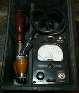 Vintage Weston Moisture Meter Model 8009 With Case Hammmer