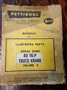 Pettibone Truck Crane 80 Tk p Parts Manual