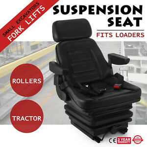 New Suspension Seat Tractor Forklift Excavator Industrial With Seat Belt