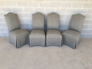 Ethan Allen Parsons Skirted Side Chairs Set Of 4 20 7307
