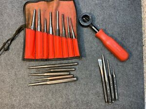 Mac Tools Punch Chisel Holder Ks10a Set Plus Additional Snap on Punch