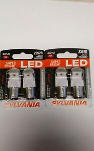 Sylvania Premium Led Light Bulb 1157 2357 2057 Red 4 Pk