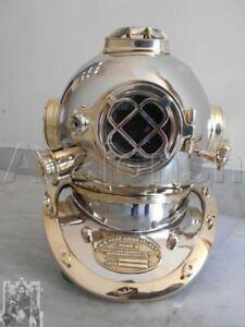 Antique Style Brass Us Navy Diving Divers Helmet Deep Sea Replica Vintage Gift