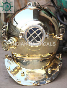 Antique U S Navy Mark Iv Diving Divers Helmet Solid Brass Size18 8 5 Kg