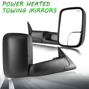 Lh Rh For 98 01 Dodge Ram 1500 Ram 2500 3500 Flip Up Power Heated Towing Mirrors