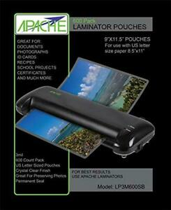 Apache Laminating Pouches Letter Size 600 Pack 3 Mil