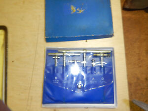 Telescoping Gage Gauges Ain Box With Pouch Machinist Tool