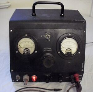 Antique Vintage Radio Analyzer Tube Electronic Tester W Weston Volt