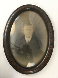 Vintage Bubble Glass Frame With Photo 23x17
