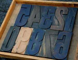 Giant Numbers 0 9 Rare 8 88 Letterpress Wooden Type Woodtype Wood Number