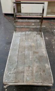 Vintage Antique Railroad Cart Industrial Factory Warehouse Repurposing Project