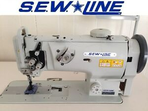 Sewline Sl 1508 New Lg Vert Bobbin Walking Foot Servo Industrial Sewing Machine