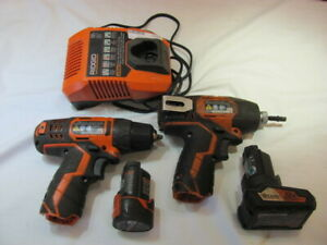 Ridgid 12 volt Impact Driver And 3 8 Drill Combo With 2 Batteries And Charger